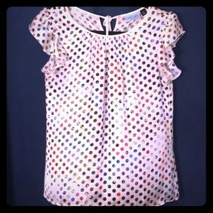 Cynthia Rowley Lattice Bouquet Polka Dot Top -
